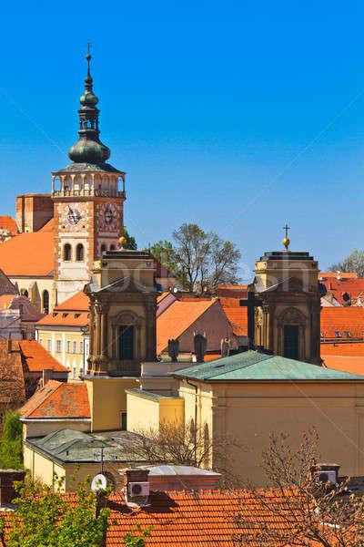 Kastély város dél Csehország fű város Stock fotó © Bertl123