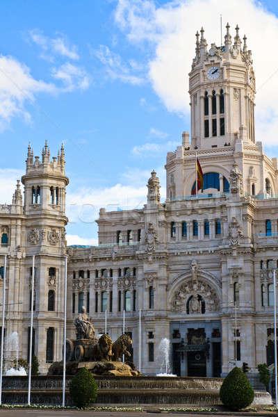 Palacio de Cibeles, Madrid, Spain Stock photo © Bertl123