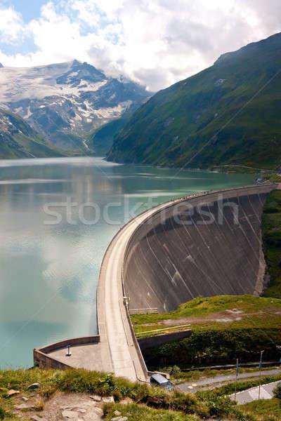 Staumauer des Kraftwerks Kaprun Stock photo © Bertl123