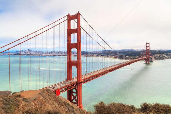 Golden Gate Bridge brumoso día San Francisco California ciudad Foto stock © Bertl123