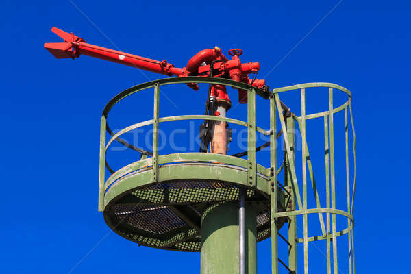 Fire Hose / Nozzle at an oil / gas heavy industry plant Stock photo © Bertl123