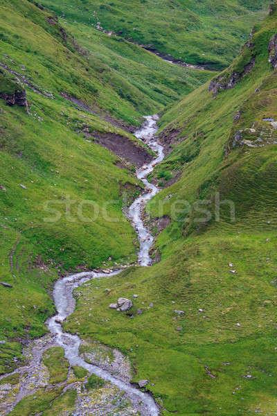 Alpesi tájkép görög fut lefelé hegy Stock fotó © Bertl123