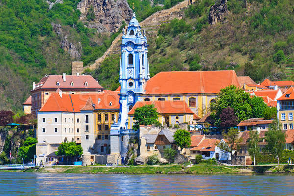 Durnstein Baroque Church on the river danube (Wachau Valley), Au Stock photo © Bertl123