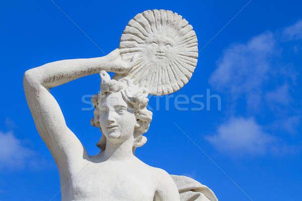Márvány szobor nap lemez kék ég égbolt Stock fotó © Bertl123