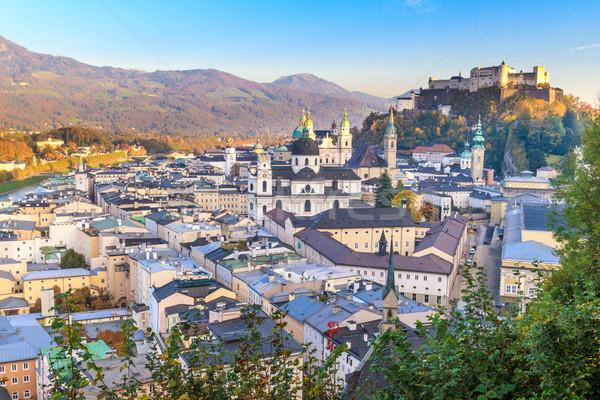 オーストリア インナー 市 教会 空 風景 ストックフォト © Bertl123