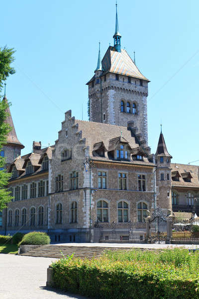 Land museum Zürich Zwitserland Rood Europa Stockfoto © Bertl123