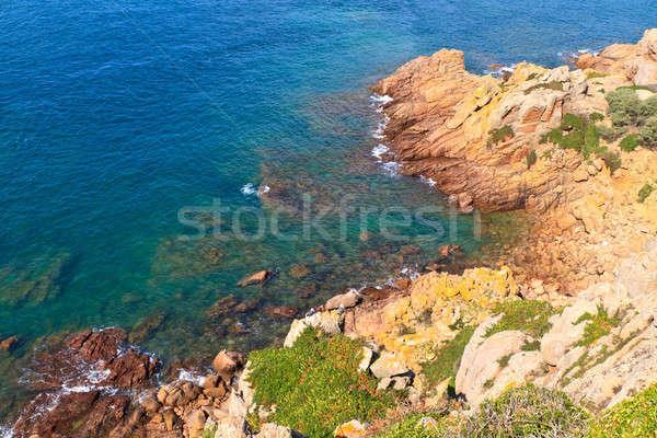 Picturesque rocky coast, Jersey, Channel Islands Stock photo © Bertl123