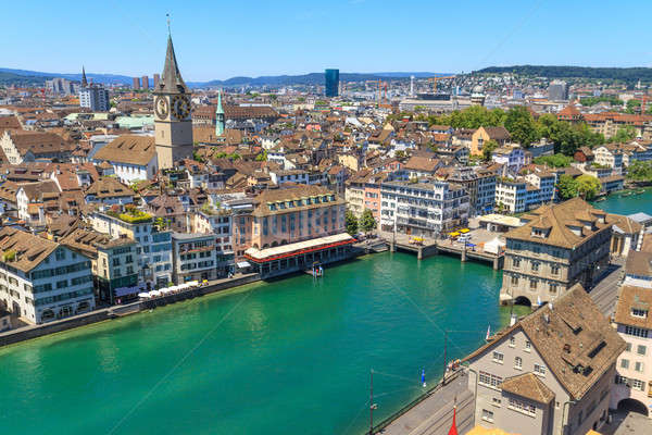 Zurich Cityscape (aerial view) Stock photo © Bertl123
