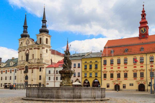 Jihlava (Iglau) Main (Masaryk) Square with Saint Ignatius Church Stock photo © Bertl123