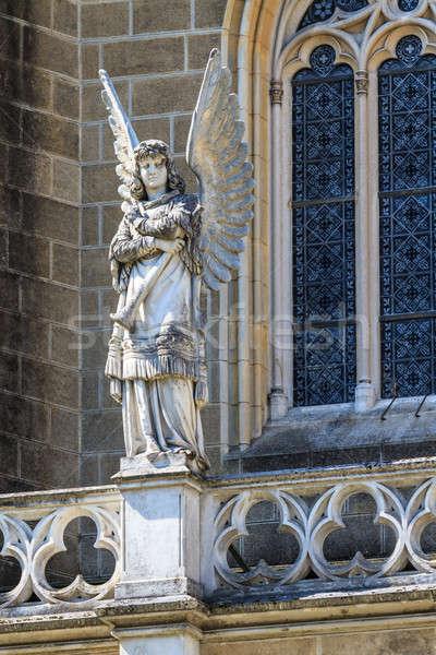 哥特式 天使 建築 細節 教會 手 商業照片 © Bertl123