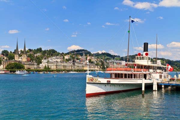 Lucerne City view with Steam Ship, Switzerland Stock photo © Bertl123