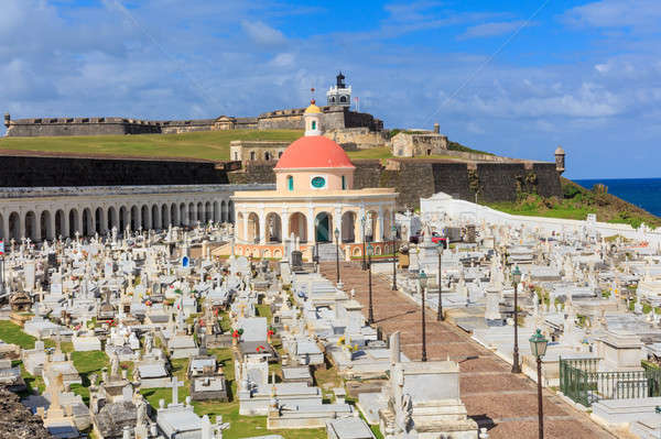 Old San Juan, El Morro fort and Santa Maria Magdalena cemetery,  Stock photo © Bertl123