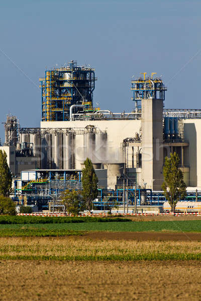 Refinería de petróleo pesado industria complejo cielo construcción Foto stock © Bertl123