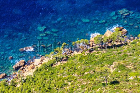 Aerial view of Beautiful Scenic Coastline near Cassis in Souther Stock photo © Bertl123