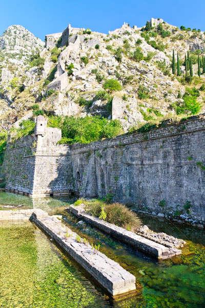 Kotor City Wall Fortifications, Montenegro Stock photo © Bertl123