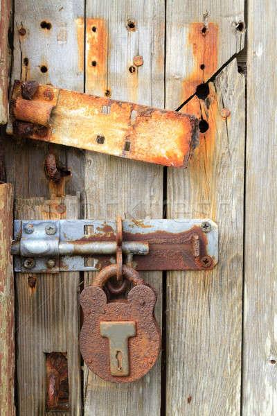 Rusty ancient door lock  Stock photo © Bertl123