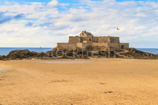 Saint Malo View on Fort National, France  Stock photo © Bertl123