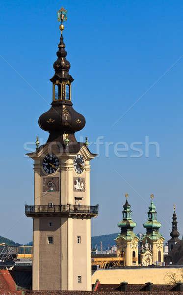 Linz - Landhaus Tower / Upper Austrian Landtag  Stock photo © Bertl123