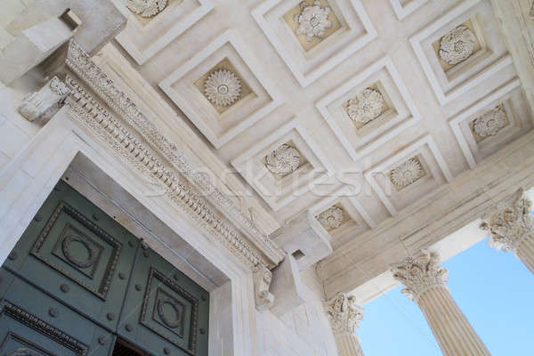 Сток-фото: римской · храма · детали · Франция · город · южный