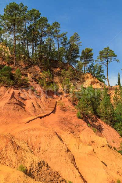 Kırmızı Fransa ev güneş doğa Stok fotoğraf © Bertl123