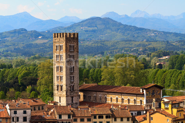 Lucca, Tuscany - View over Old Town Stock photo © Bertl123