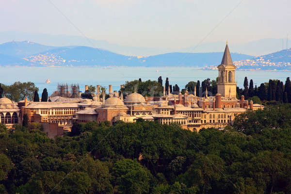 Topkapi Palace before Marmara sea, Istanbul, Turkey Stock photo © Bertl123