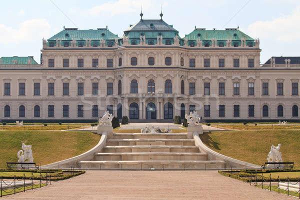 Stock fotó: Palota · kilátás · kert · Bécs · Ausztria · épület
