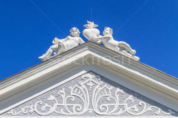 Topo barroco portal mosteiro parque Áustria Foto stock © Bertl123