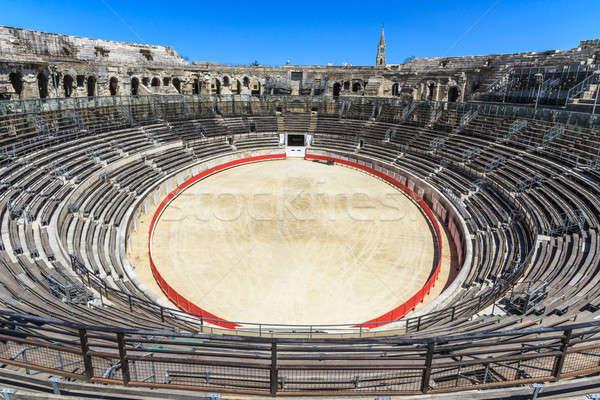 бык арена римской амфитеатр Франция Сток-фото © Bertl123