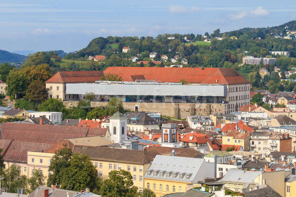 Linz Cityscape with Schlossmuseum and Old Town, Austria Stock photo © Bertl123