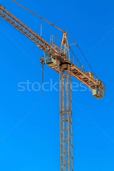クレーン 建設現場 青空 空 建物 作業 ストックフォト © Bertl123