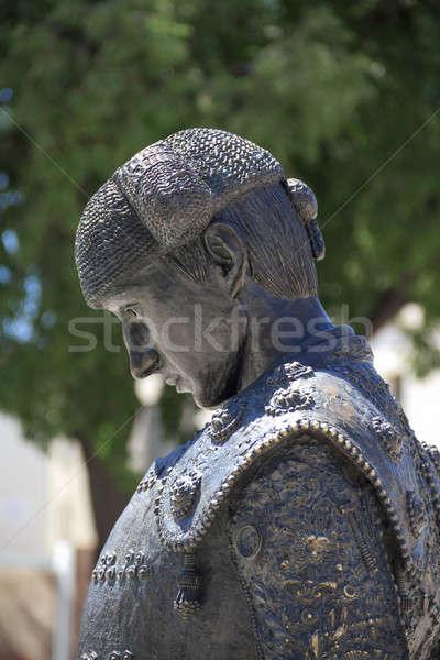 Nimeño II statue (famous matador / torero), Nimes, France Stock photo © Bertl123