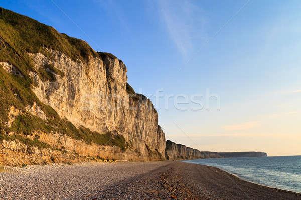 Cliffs near Etretat and Fecamp, Normandy, France Stock photo © Bertl123