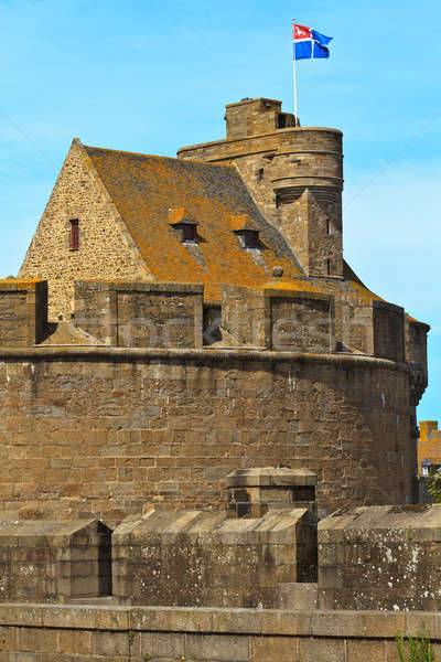 St. Malo Hotel de Ville, Tower and Fortifications, Brittany, Fra Stock photo © Bertl123