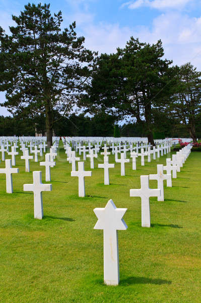 American War Cemetery near Omaha Beach, Normandy (Colleville-sur Stock photo © Bertl123
