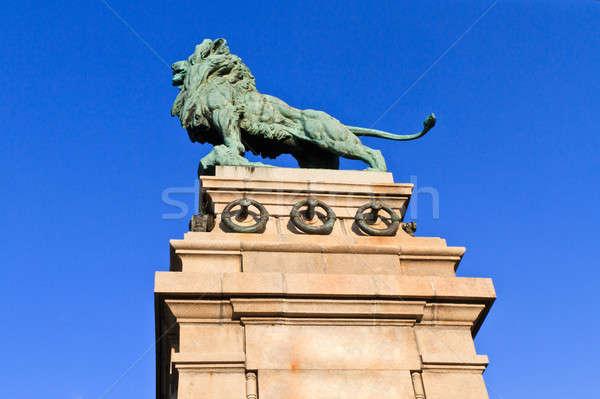 Lion Bronze statue, Vienna, Austria Stock photo © Bertl123