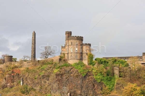 Widoku Hill Edinburgh hotel zamek panoramę Zdjęcia stock © Bertl123