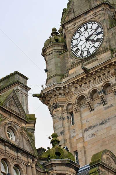 Edinburgh hotel architektury szczegóły budynku miasta Zdjęcia stock © Bertl123