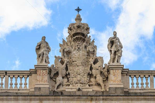 Сток-фото: Мадрид · королевский · дворец · пальто · оружия · Top