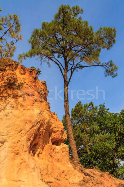 Red Cliffs in Roussillon (Les Ocres), Provence, France  Stock photo © Bertl123