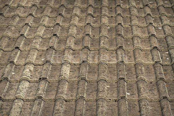 Geleneksel gri çatı fayans gökyüzü ev Stok fotoğraf © Bertl123
