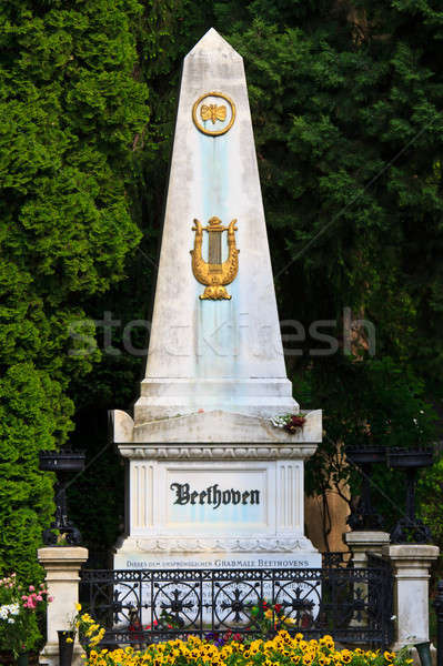 Beethoven Grave at Vienna Central Cemetery, Austria Stock photo © Bertl123