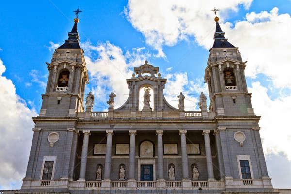 大聖堂 マドリード スペイン 市 クロス フィールド ストックフォト © Bertl123