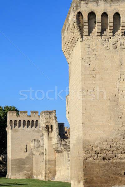 Medievale città muro costruzione panorama blu Foto d'archivio © Bertl123