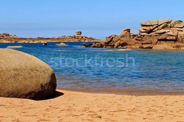 Cote de granite Rose, Brittany Coast near Ploumanach, France Stock photo © Bertl123