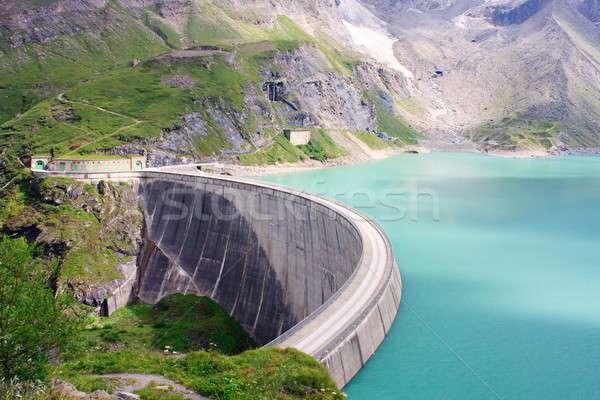Concrete dam wall of Kaprun power plant (no people), Salzburg Alps, Austria Stock photo © Bertl123