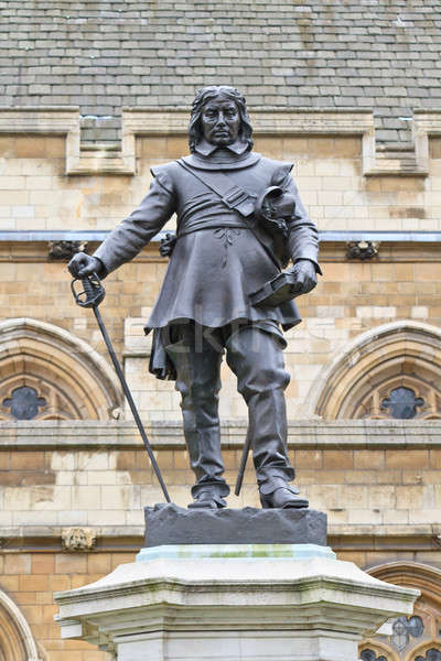 Oliver Cromwell - Statue in front of Palace of Westminster (Parliament), London, UK Stock photo © Bertl123