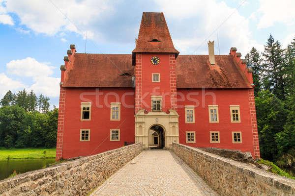 Red water chateau Cervena Lhota in Southern Bohemia, Czech Repub Stock photo © Bertl123