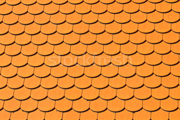 Pattern of red ceramic roof shingles  Stock photo © Bertl123