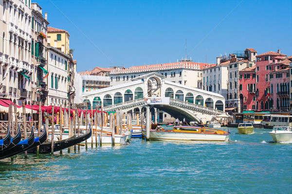 Venice - Rialto Bridge and Canale Grande Stock photo © Bertl123